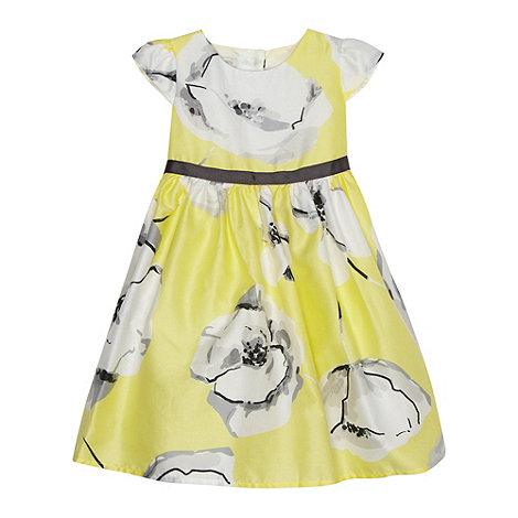 RJR.John Rocha - Designer babies yellow large poppy dress