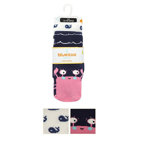 bluezoo - Pack of two babies navy whale tights
