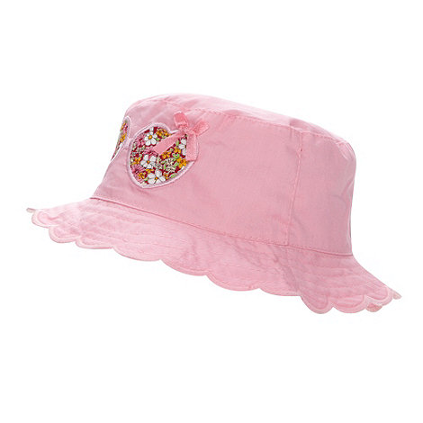bluezoo - Babies pink embroidered sunglasses bucket hat
