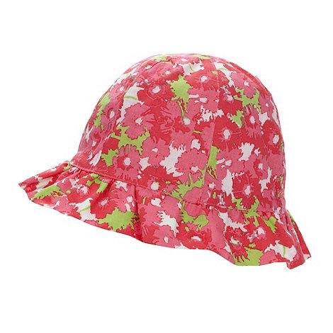 RJR.John Rocha - Designer babies bright pink floral bucket hat