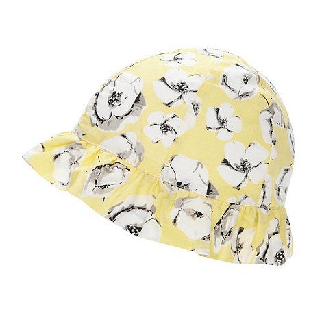 RJR.John Rocha - Designer babies yellow floral bucket hat