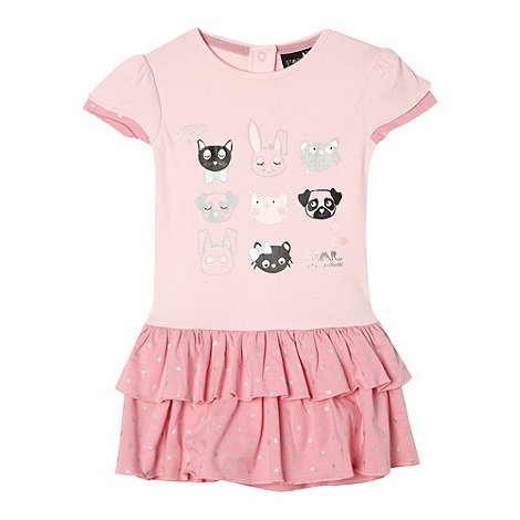 Star by Julien Macdonald - Designer babies pink animal tutu skirt romper suit