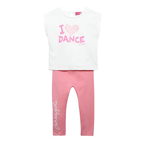 Pineapple - Babies off white +Dance+ t-shirt and leggings set