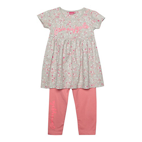 Pineapple - Babies grey star dress and leggings