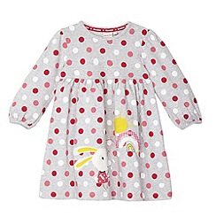 bluezoo - Babies grey spotted applique bunny dress