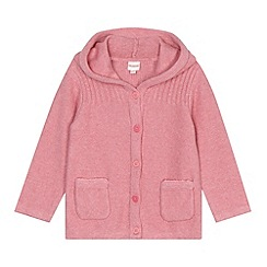 bluezoo - Babies pink hooded cardigan