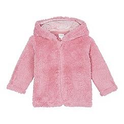 bluezoo - Girl's pink fleece bear jacket