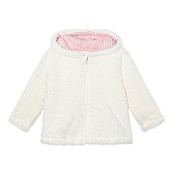 bluezoo - Babies cream fleece bear hoodie