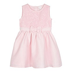 bluezoo - Babies pink sequin bodice party dress