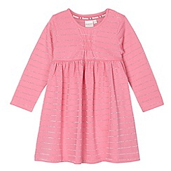 bluezoo - Girl's pink striped glitter dress