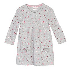 bluezoo - Babies grey floral pocket dress