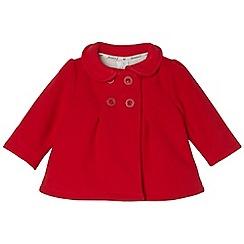 J by Jasper Conran - Designer babies red bonded fleece coat