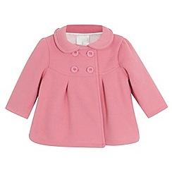J by Jasper Conran - Designer babies pink fleece pea coat