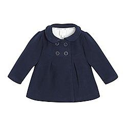 J by Jasper Conran - Designer girl's navy fleece coat