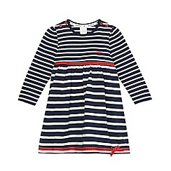 J by Jasper Conran - Designer babies navy soft striped dress