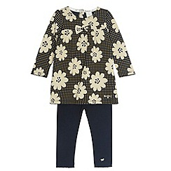 J by Jasper Conran - Designer babies navy daisy tunic and leggings