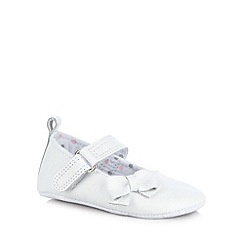 J by Jasper Conran - Designer babies white leather bow booties