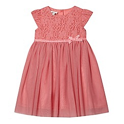 RJR.John Rocha - Designer girl's peach lace bodice dress