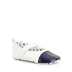 J by Jasper Conran - Designer babies off white patent toe cap booties