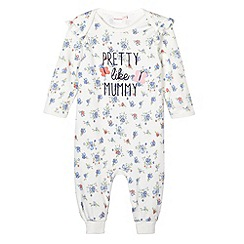 bluezoo - Babies floral printed 'Pretty like Mummy' sleep suit