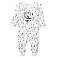 bluezoo - Babies floral printed 'Pretty like Mummy' sleep suit
