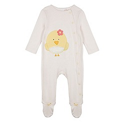 bluezoo - Babies pale pink chick sleepsuit