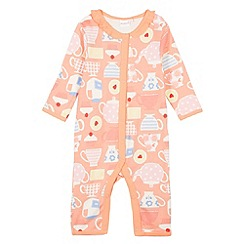 bluezoo - Babies orange teacup cake sleepsuit