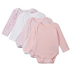 bluezoo - Pack of four babies pink bodysuits