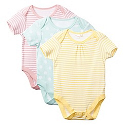 bluezoo - Pack of three babies pink striped bodysuits