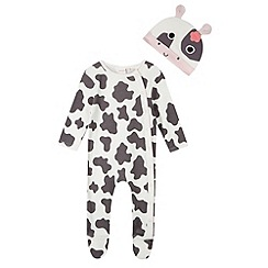 bluezoo - Babies white cow print four piece top
