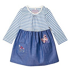 bluezoo - Babies blue chambray mix dress