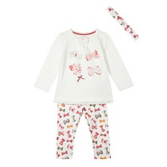bluezoo - Babies cream three piece butterfly print set