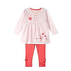 bluezoo - Babies pink bunny top and leggings