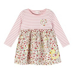 bluezoo - Babies pink ditsy duck dress