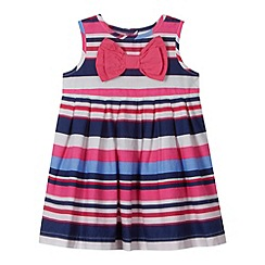 bluezoo - Babies pink striped empire dress
