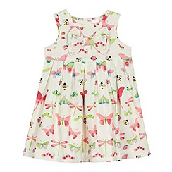 bluezoo - Girl's cream bug print dress