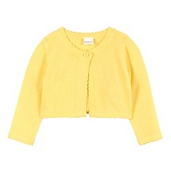 bluezoo - Babies yellow scalloped edge cropped cardigan