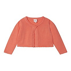 bluezoo - Babies coral scalloped cardigan
