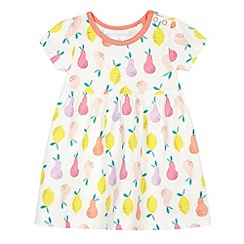 bluezoo - Babies off white pear printed jersey dress