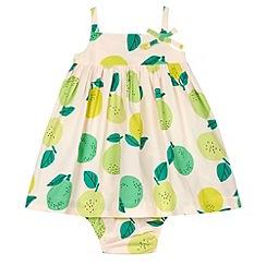 bluezoo - Girl's green apple print dress