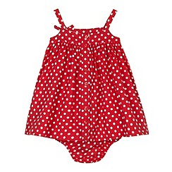 bluezoo - Babies red ice cream dress with knickers