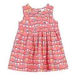 bluezoo - Babies light pink bird bunting empire dress