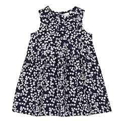 bluezoo - Babies navy ditsy floral empire dress