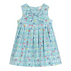 bluezoo - Babies aqua bird bunting empire dress