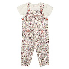 bluezoo - Babies multicoloured floral dungarees set
