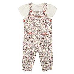 bluezoo - Babies multicoloured floral dungarees set