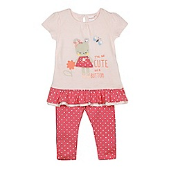 bluezoo - Babies pink 'Cute as a button' two piece set