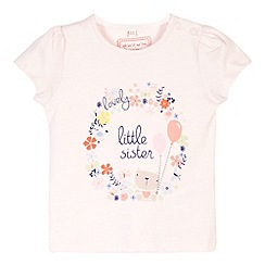 bluezoo - Babies pink 'Lovely little sister' top