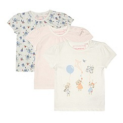 bluezoo - Babies cream pack of three t-shirts