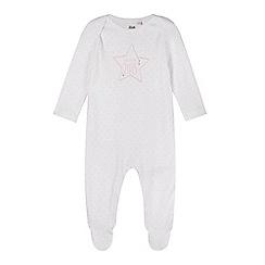 bluezoo - Babies white 'Born in 2015' sleepsuit